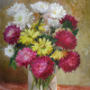 Asters and chrysanthemums, 2008 35x29 см; картина не продается