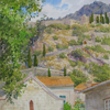 Montenegro. View of Kotor fortress, 2010 41x31 cm; картина не продается