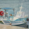 Cyprus. Fishing small boats at pier of Paphos, 2011 31x41 cm; эту картину можно купить