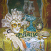 Masque on dressing table, 2007