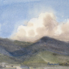 Clouds over mountains. Alania, 2004