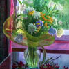 Autumn flowers at window, 2002