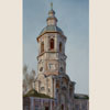 Ostashkov. Bell tower of Trinity Cathedral, 2011 29.5x17 cm; картина не продается