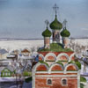 Ostashkov. View from Trinity monastery.s bell tower, 2011 20x30 cm; картина не продается