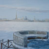St.Petersburg. View of Peter and Paul fortress, 2012 30x40 cm; эту картину можно купить