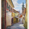 Small street of old Krumlov, 2009