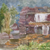 Waterfall in forest, 2004