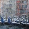 Snow-covered gondolas on Grand canal, 2009 45x62 cm; картина не продается